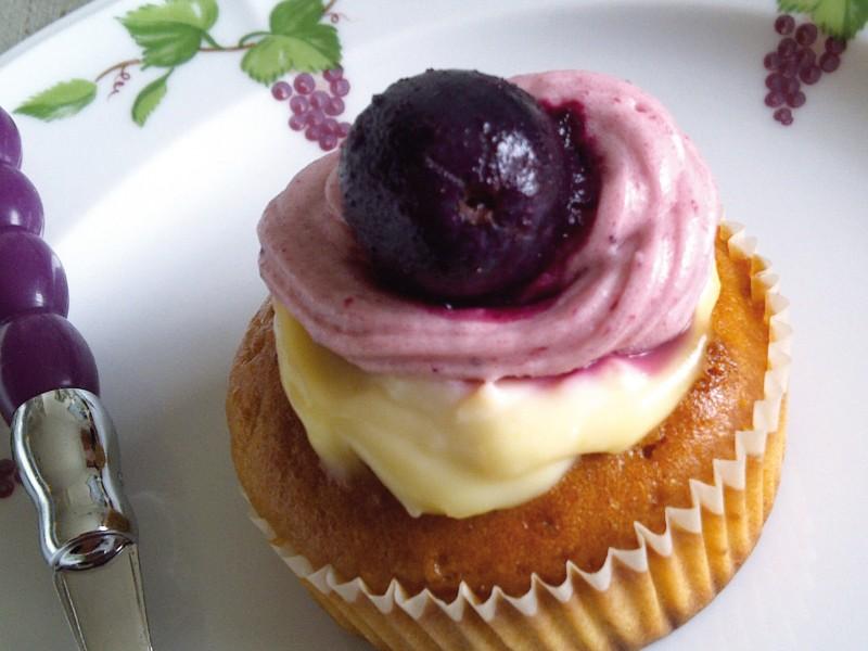 Cupcake à la cerise