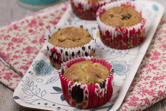 Muffins à la banane, chocolat ou raisins secs
