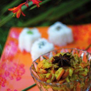 Curry carottes et noix de coco