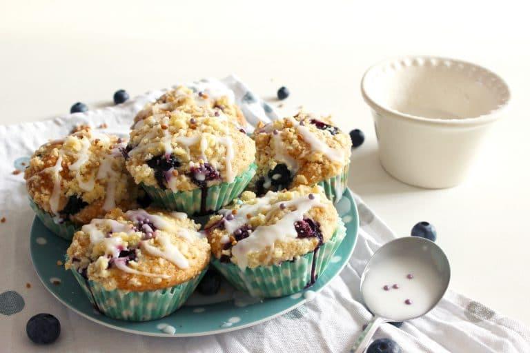 Muffins Streusel aux myrilles