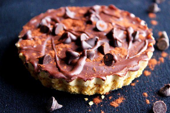 Tarte sablée chocolat et beurre de cacahuète