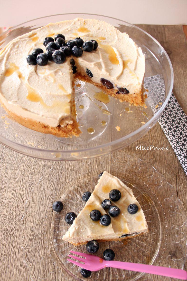 Cheesecake aux myrtilles et sirop d'érable