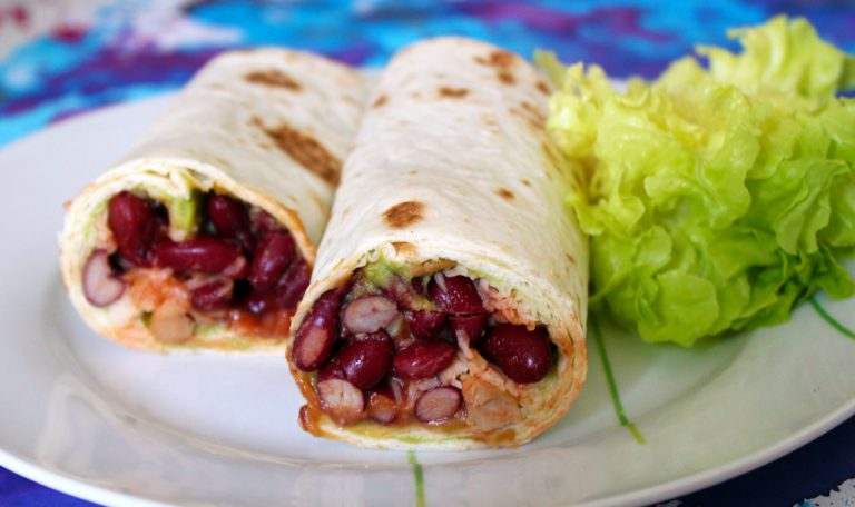 Wrap végétarien à la mexicaine