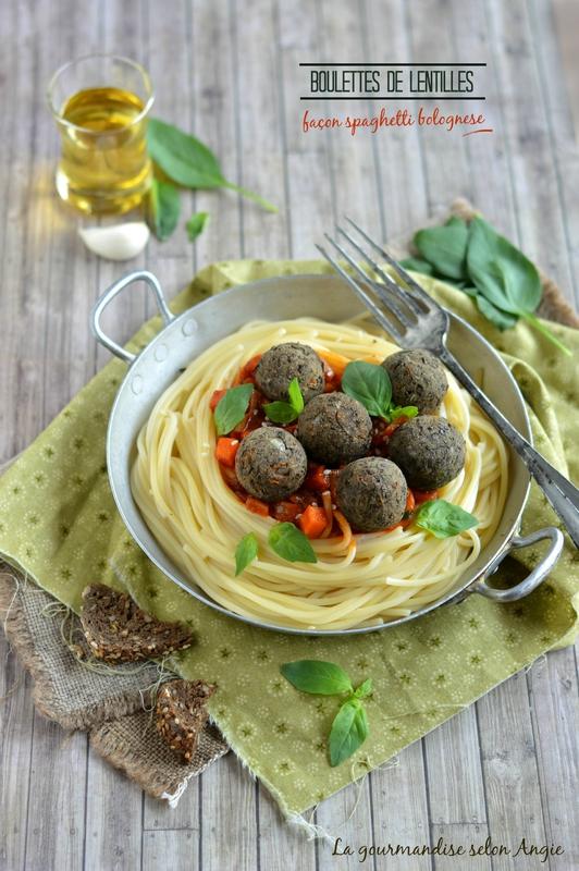 Boulettes de lentilles fa on bolognaise recette vegan - Cuisiner lentilles seches ...