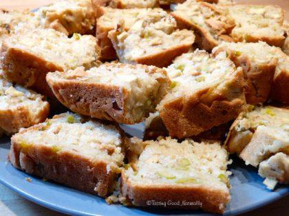 Cake au tofu fumé et olives
