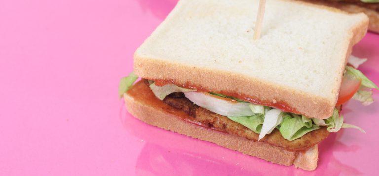 Sandwich au tofu croustillant
