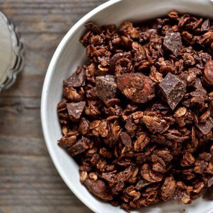 Granola double chocolat et amandes