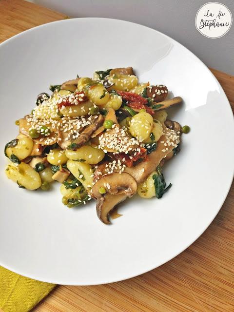 Gnocchi et légumes poêlés